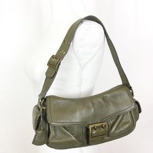 BANANA REPUBLIC Olive Green Leather Shoulder Bag